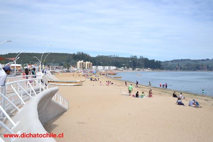 Departamento en Costanera de Dichato con vista mar