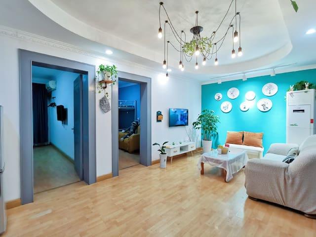 【舒de屋】个园瘦西湖东关街中心景区三居室