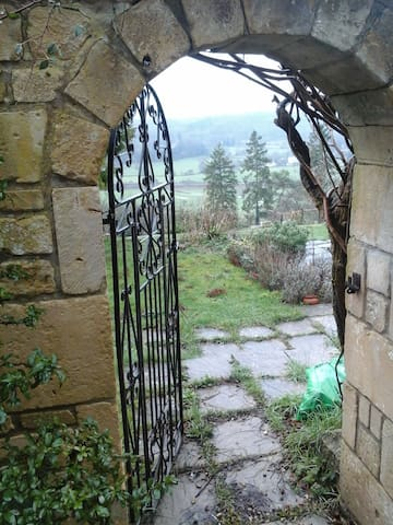 Through the garden gate; you are welcome to enjoy our garden.