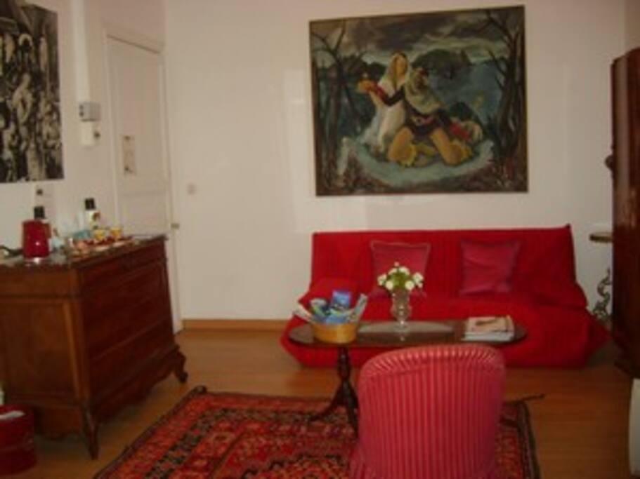 Salon privé à l'intérieur de la suite