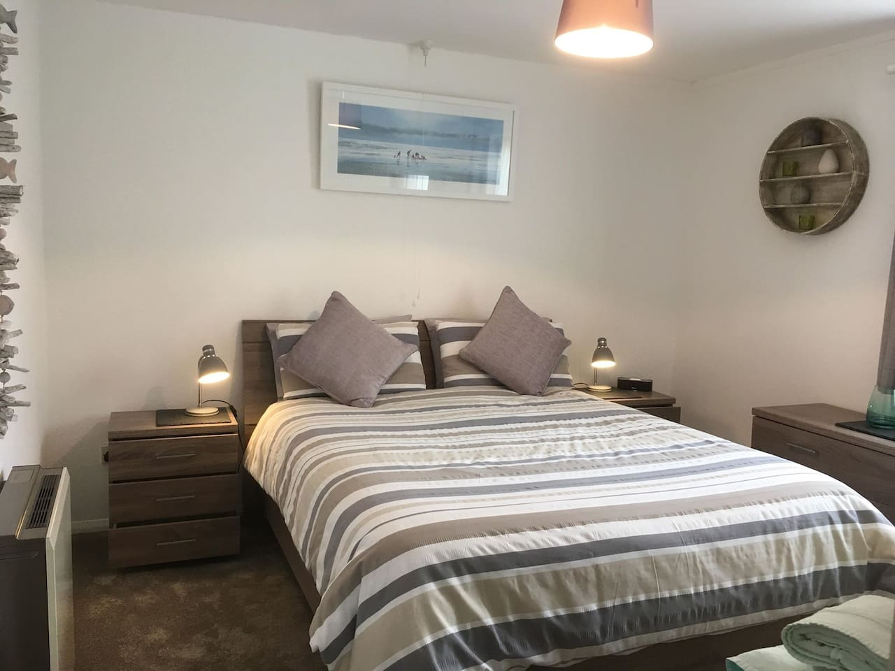 King size double bedroom.  Room for a travel cot and has a Wash basin.