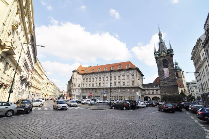Apartment is located near the Senovazne square in few minutes walking from Wenceslas  and Old town squares