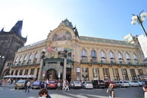 In few steps from apartment is located the most beautiful building  in Prague- The Municipal House