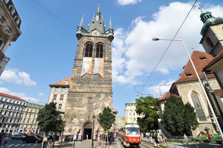 Jindrissska tower is located in few steps from apartment