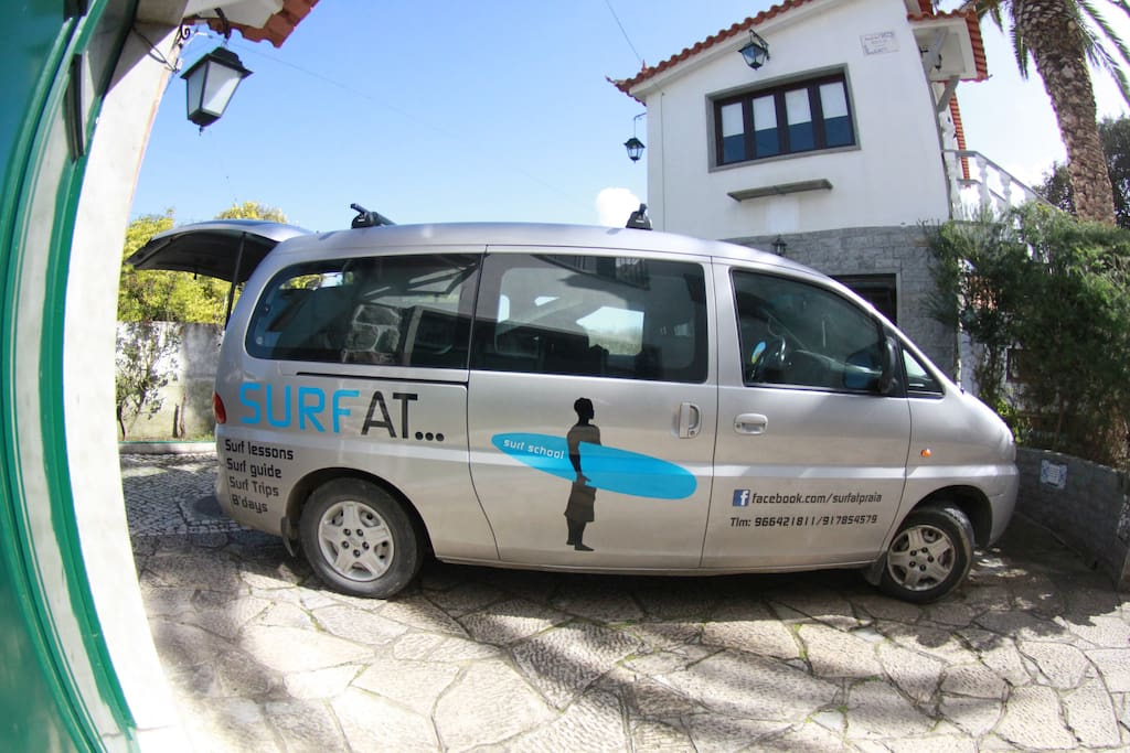 Surf School shuttle for Surf Guiding, we love surfing!