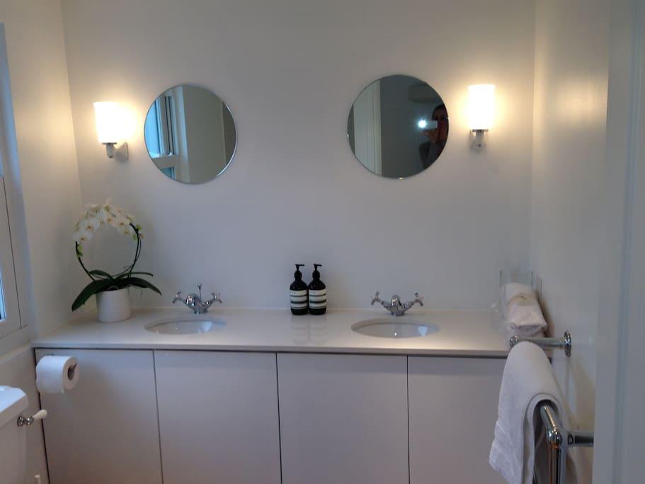 own ensuite bathroom with bathtub