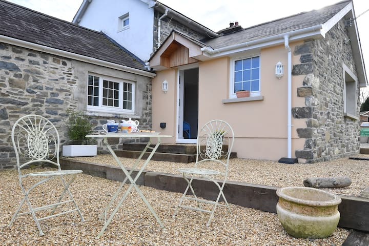 Ty Gardd, annexe in a one acre garden.