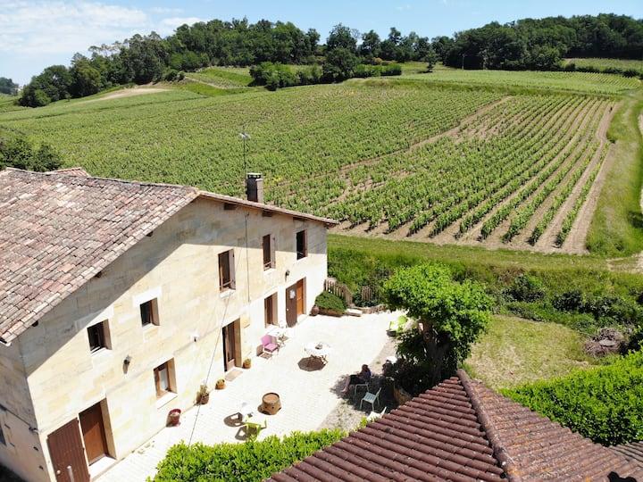 Grande maison cozy ds les vignes de Saint-Emilion