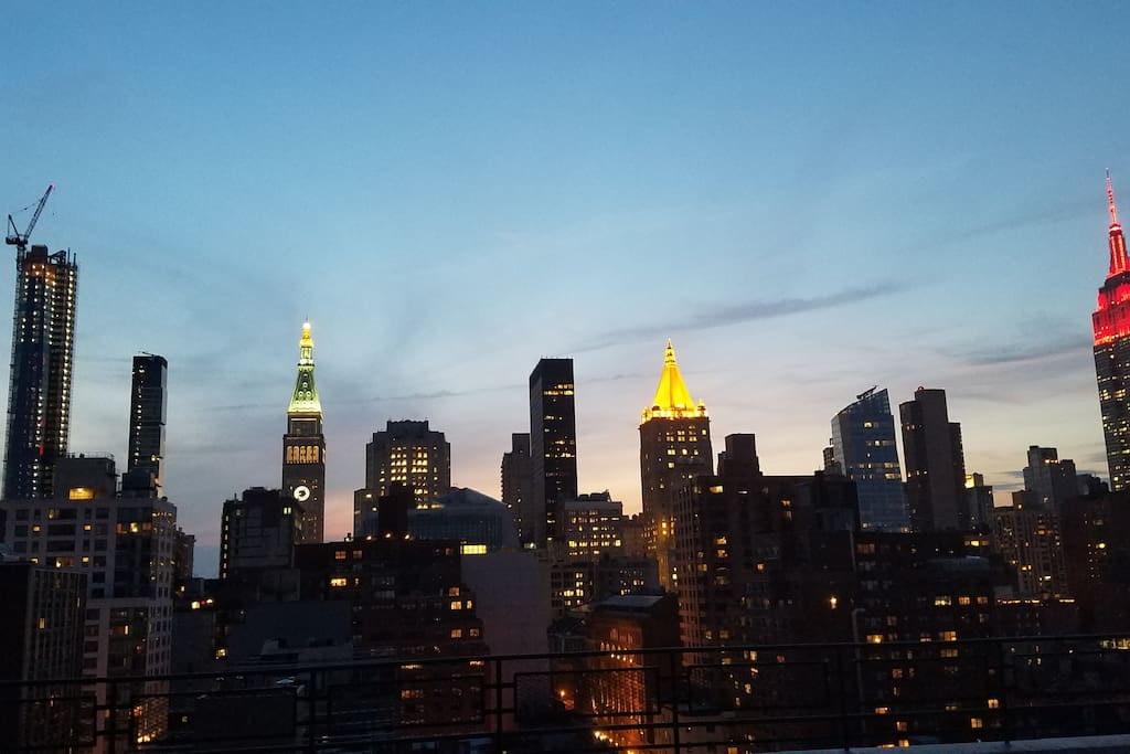 Amazing skyline view from my rooftop and apartment