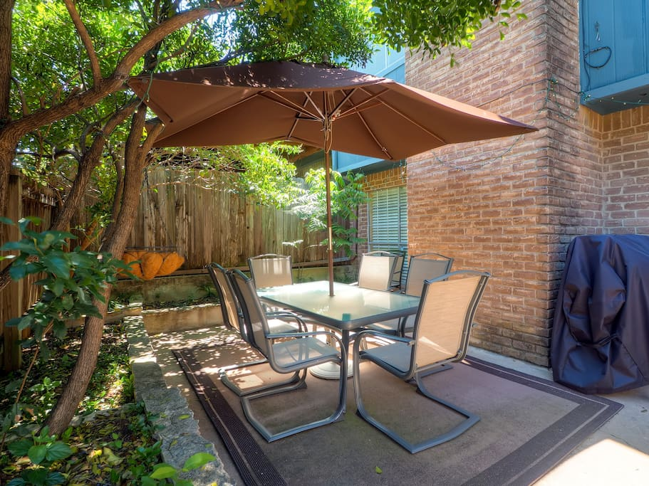 This condo is complete with a private patio!