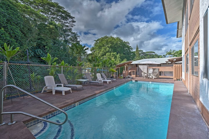 Hilo Apt w/ River View - Walk to Bay Landing!