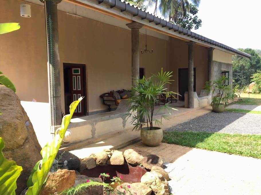 Exterior garden and veranda