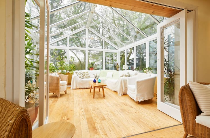 The Large Victorian Conservatory with seating for 12-14 with panoramic countryside views