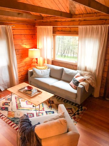 The cozy living room!