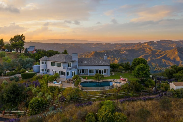Hilltop Mansion with Ocean Views