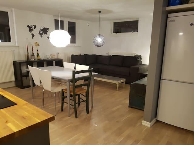 14 min till city. 3 rum lägenh i villa nära TäbyC