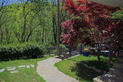 Casa dell'acero rosso - Ingresso privato, giardino