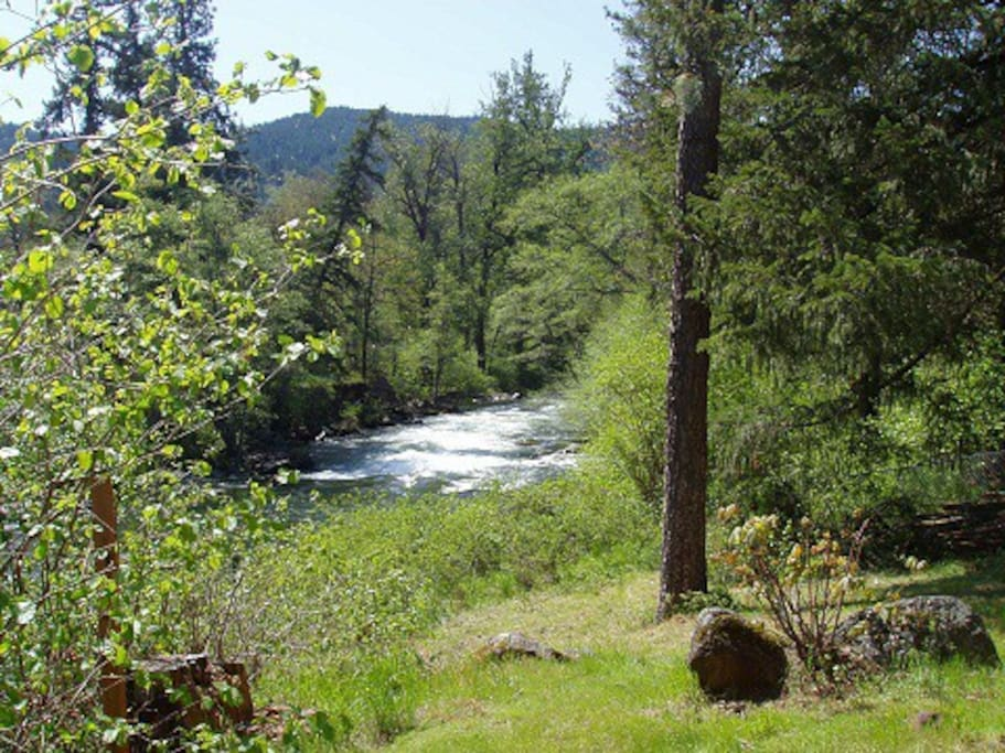 View from back deck - Rattlesnake Falls on the White Salmon River