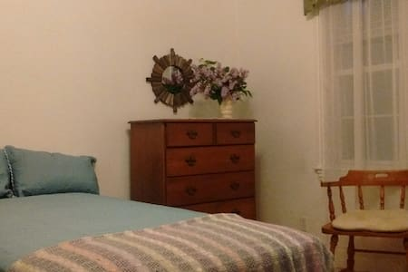 Simple Maine Comforts Guest Room - Belfast