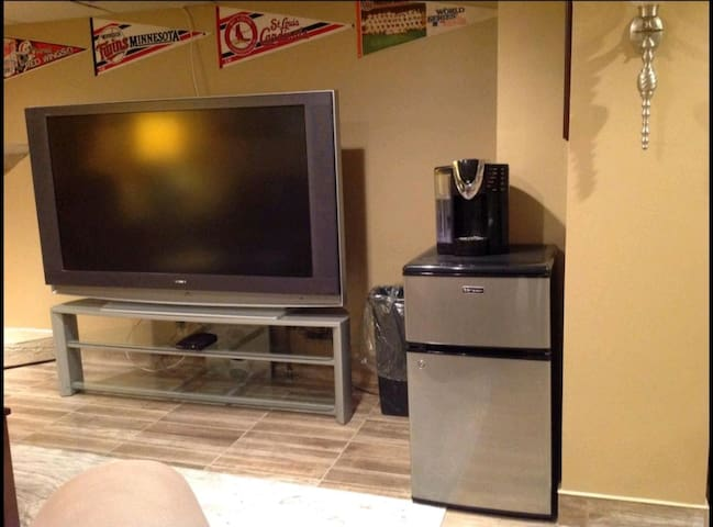 """65""""TV with cable"""