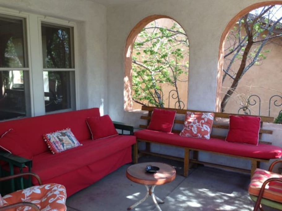 Front porch with glider
