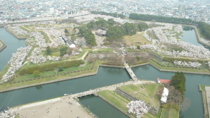 Near Goryokaku Park! WiFi! enjoy the city!