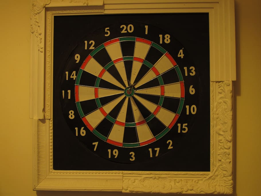 Dart board for you to play! (warning: highly addictive)