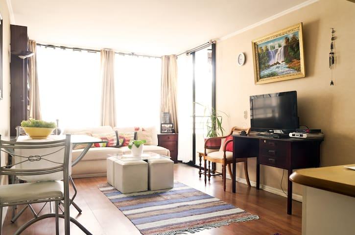 BEST LOCATION 1 bedroom near metro! - Santiago - Leilighet