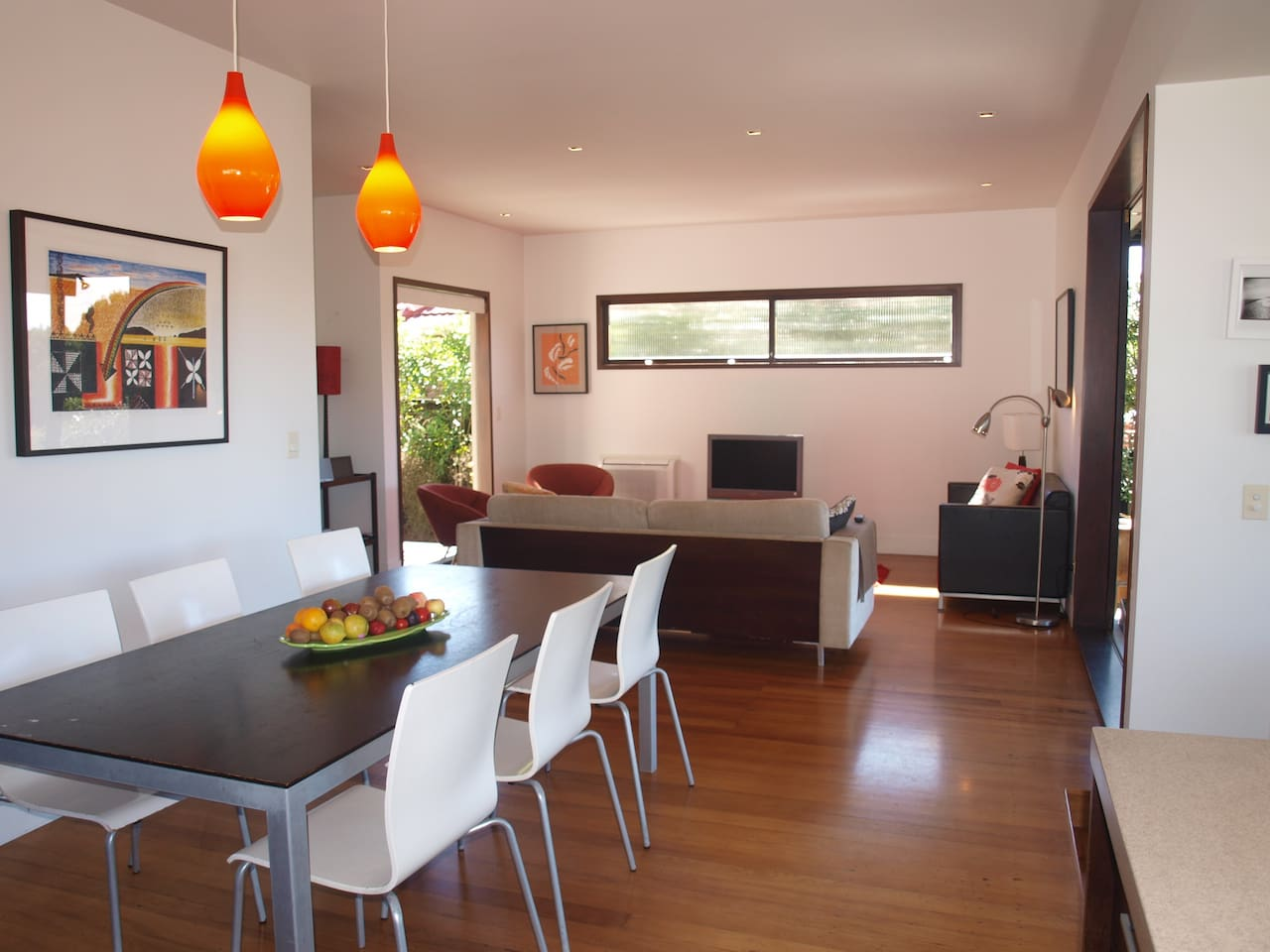 Large open plan living areas - dining and lounge 1