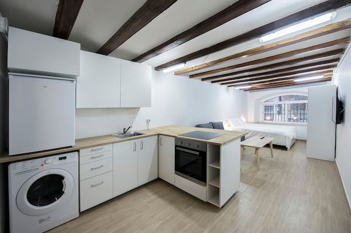 Design loft in the center of Barcelona_Viana