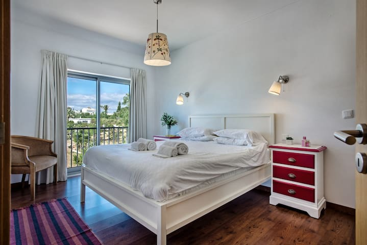 The master bedroom offers a nice large bed en suite and tranquility
