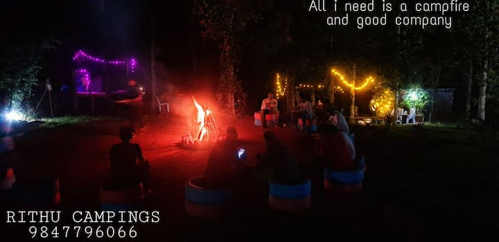 Rithu campings with barbeque and bonfire