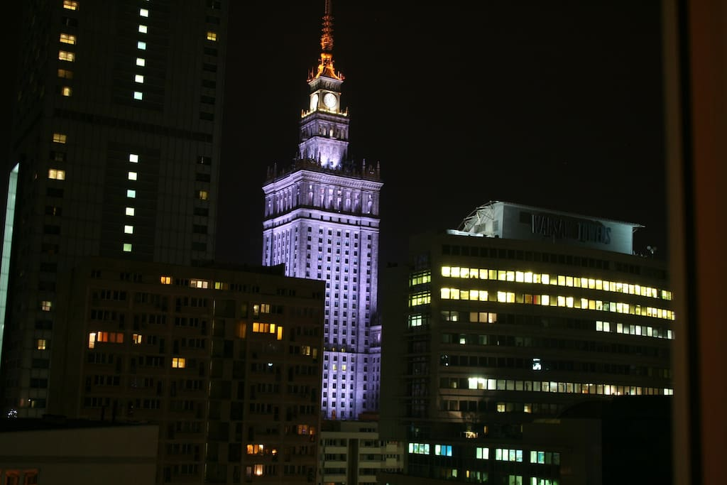 Warsaw by night.