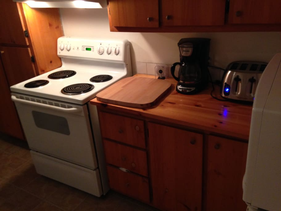 Cuisinière, micro-onde, cafetière, grille-pain...
