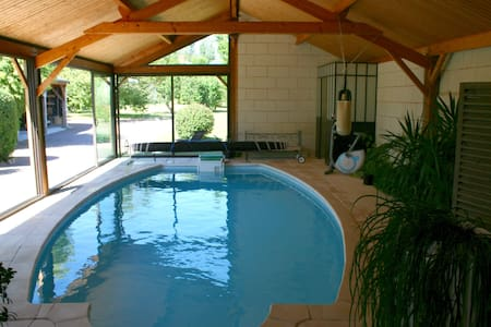 Family B&B with 28°C  inside pool all the year - Saumur