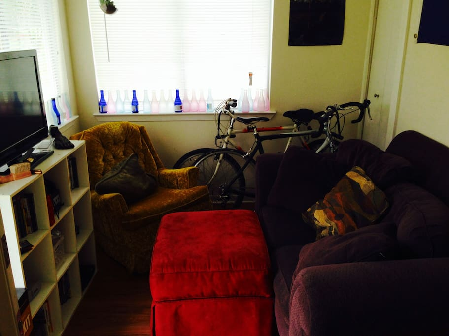 Game room. May use bikes for the festival, complete with Nintendo game consoles.