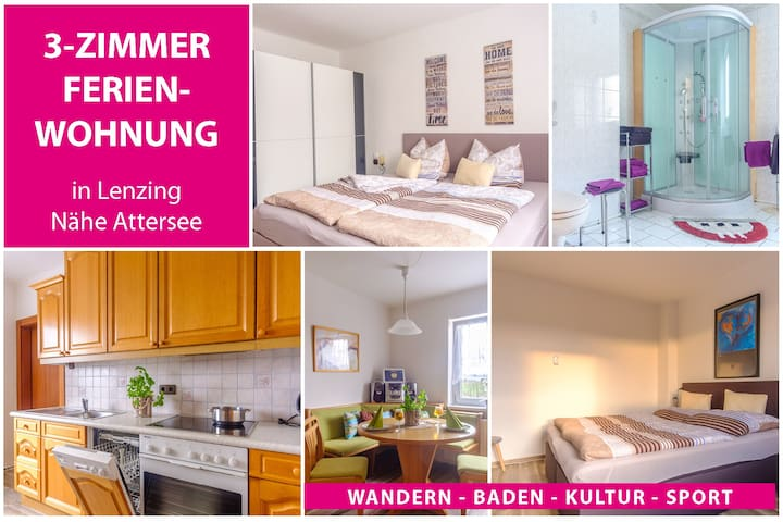 Monteurzimmer/Wohnung mit 4 getrennten Betten