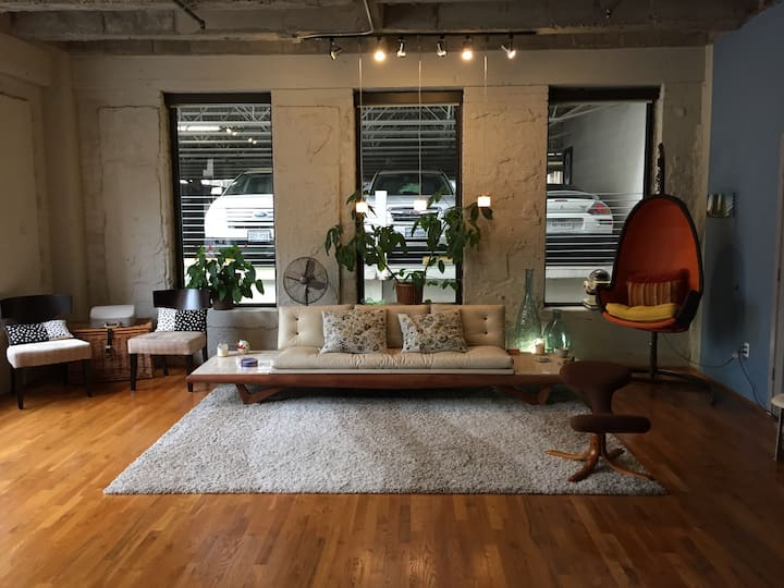 Superbowl loft rental in downtown