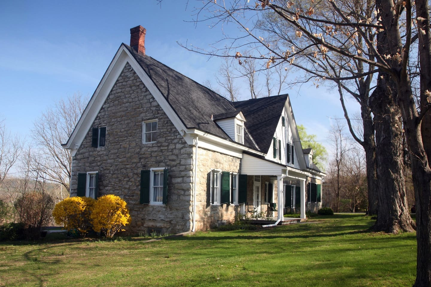 Early 18th Century Dutch style stone house in beautiful setting next to the Esopus creek.