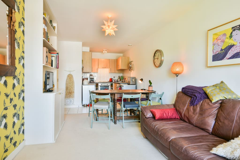 Open plan living, dining and cooking
