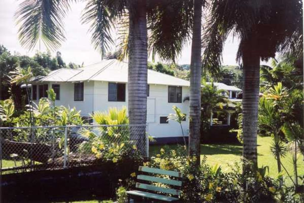 House is centrally located in Hilo in a safe residential neighborhood, a short walk to tennis courts and ocean view park.
