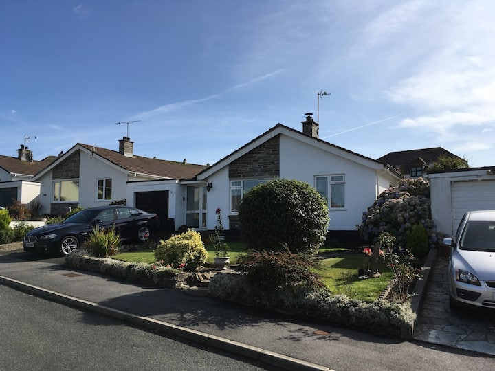 Detached three bed bungalow in village location.