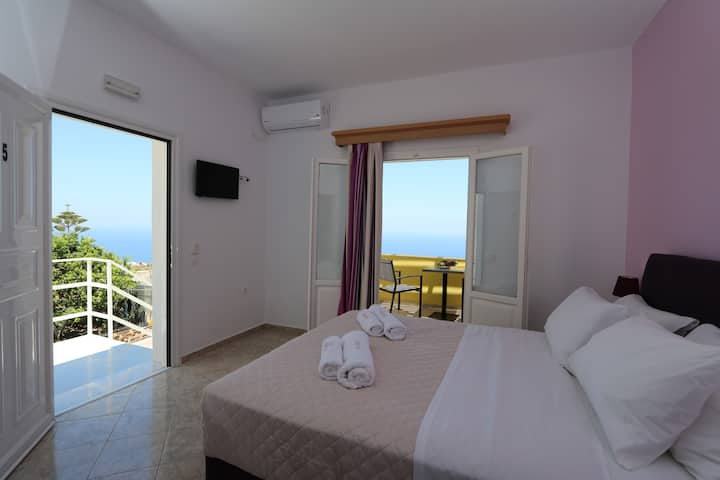Superior Room, Private Veranda, Aegean Sea view