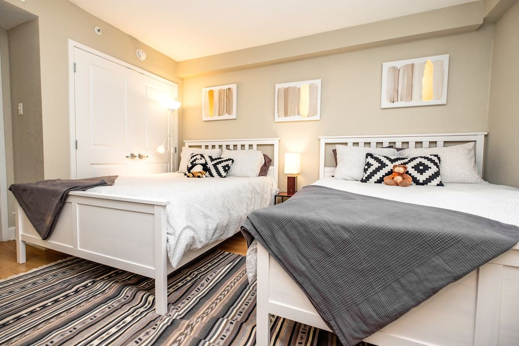 Enjoy a beautifully spacious room with two queen beds.