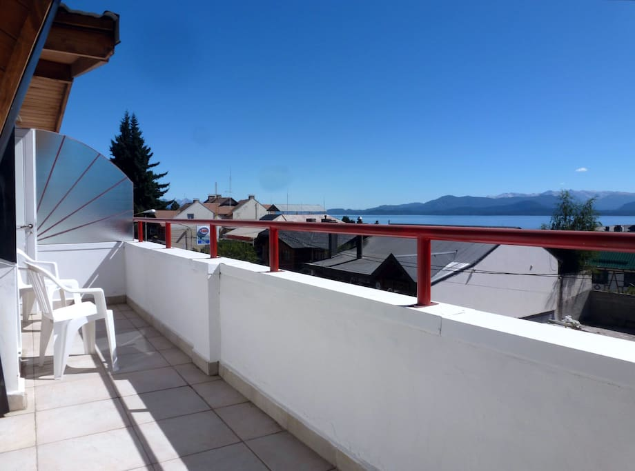 Large north-facing terrace receives the sun all day