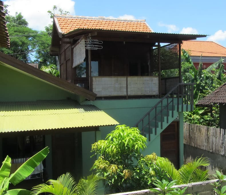Upstairs Teak House overlooking the view