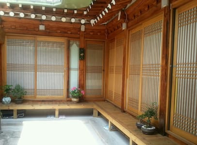 Dasom guest house is a small but cosy traditional Korean house called Hanok which was built about 120 years ago.  Dasom has 5 guest rooms (Ondol-traditional Korean floor heating system ) with 2 shared toilet & showers(seperated from room) and a kitchen. You can enjoy the overall Korean style.