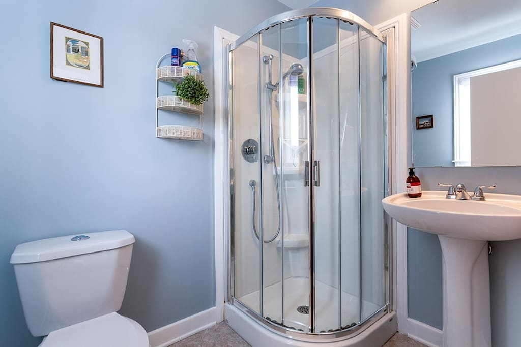 Half bath with private access from bedroom only