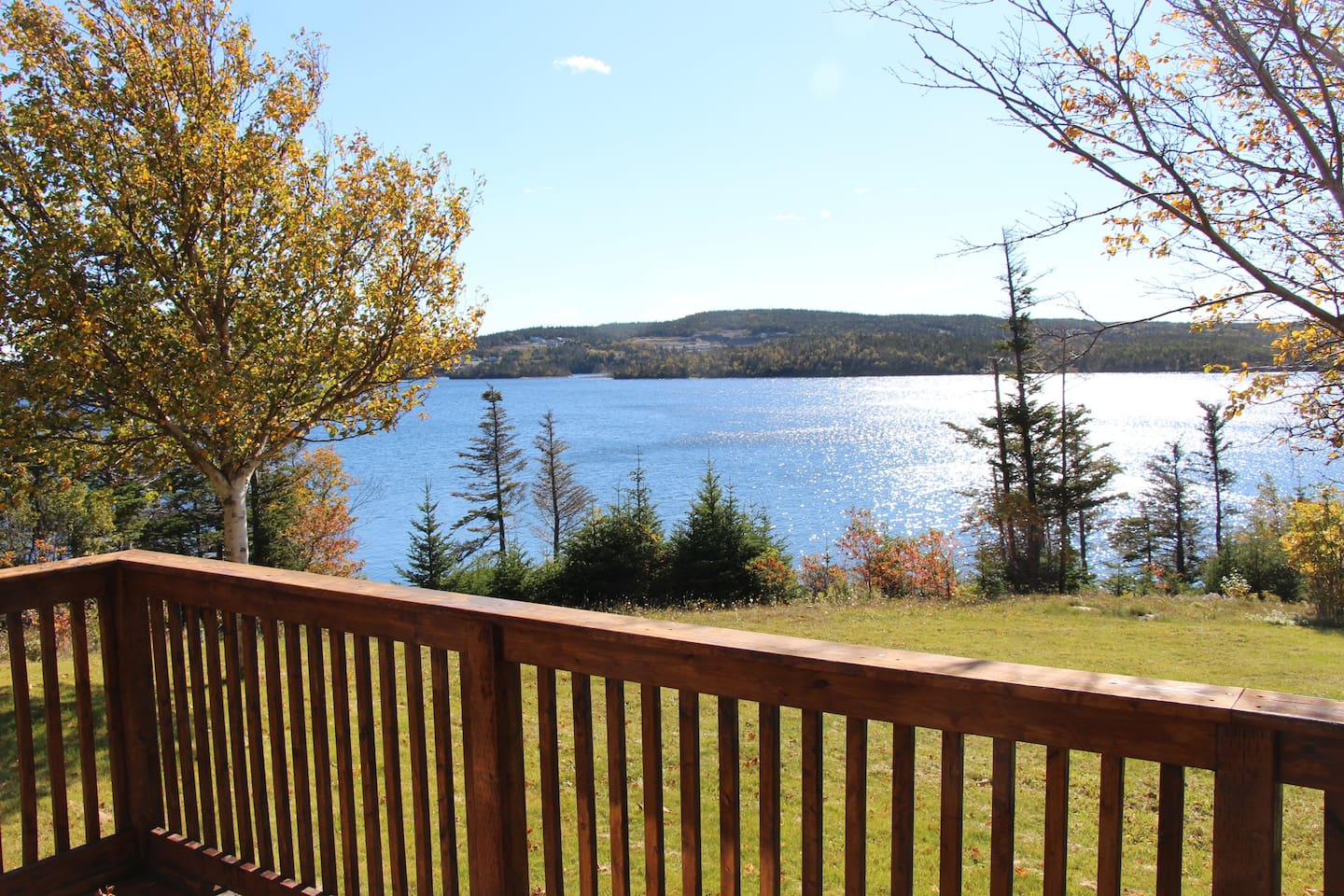 Beautiful view of Tors Cove Pond