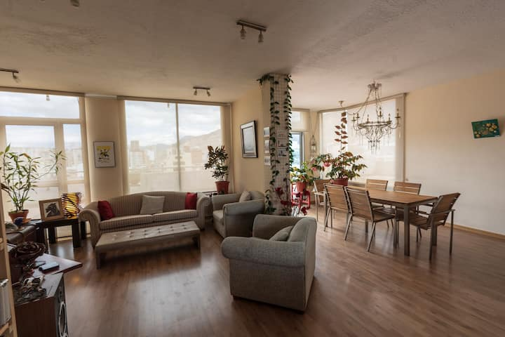 PH suite with terrace in the middle of Quito